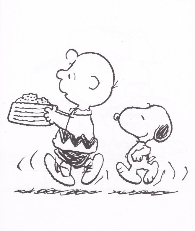 Coloriage et dessins gratuits Snoopy humoristique en ligne à imprimer