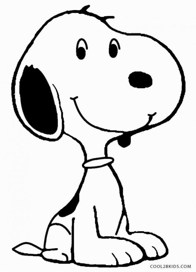 Coloriage Snoopy Le Chien Souriant Dessin Gratuit 224 Imprimer