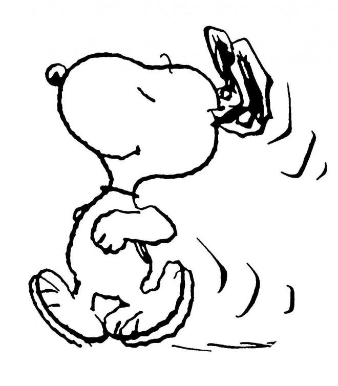Coloriage et dessins gratuits Snoopy stylisé à imprimer