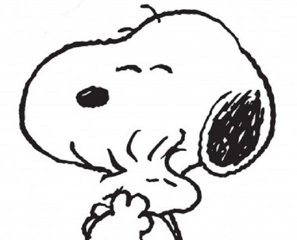 Coloriage et dessins gratuits Woodstock et son ami Snoopy à imprimer