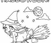 Coloriage Sorcière Halloween