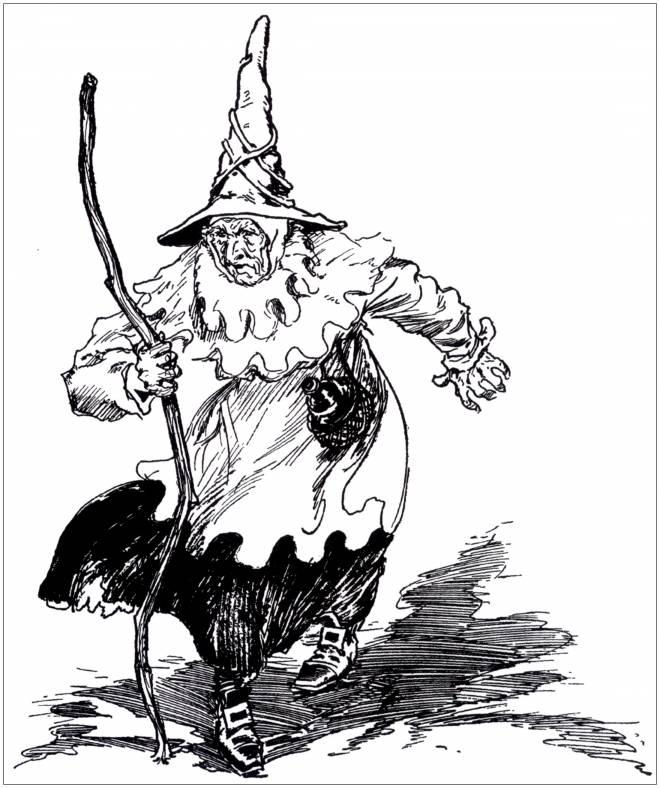 Coloriage et dessins gratuits Halloween sorcière effrayante à imprimer