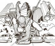 Coloriage Affiche de Film Spiderman