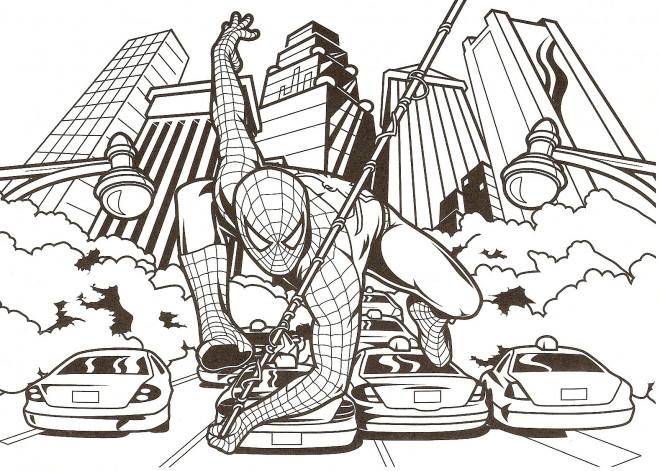 Coloriage et dessins gratuits Affiche de Film Spiderman à imprimer