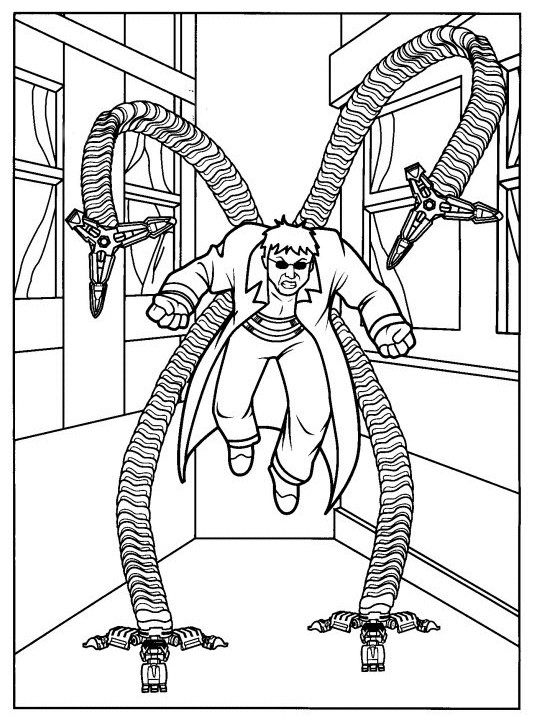 Coloriage docteur octopus magique dessin gratuit imprimer - Jeu spiderman gratuit facile ...
