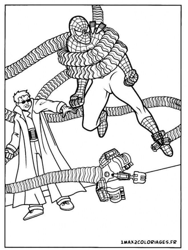 Coloriage l 39 ennemi de spiderman dessin gratuit imprimer - Coloriage spiderman portrait ...