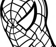 Coloriage Le masque de Peter l'homme araignée