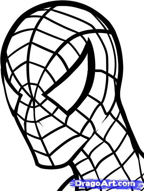 Coloriage et dessins gratuits Le masque de Peter l'homme araignée à imprimer