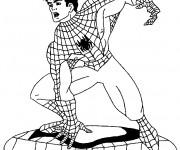 Coloriage Peter Parker enlève son masque