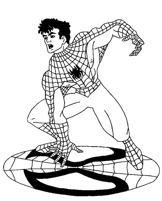 Coloriage peter parker enl ve son masque dessin gratuit - Dessin spiderman facile ...
