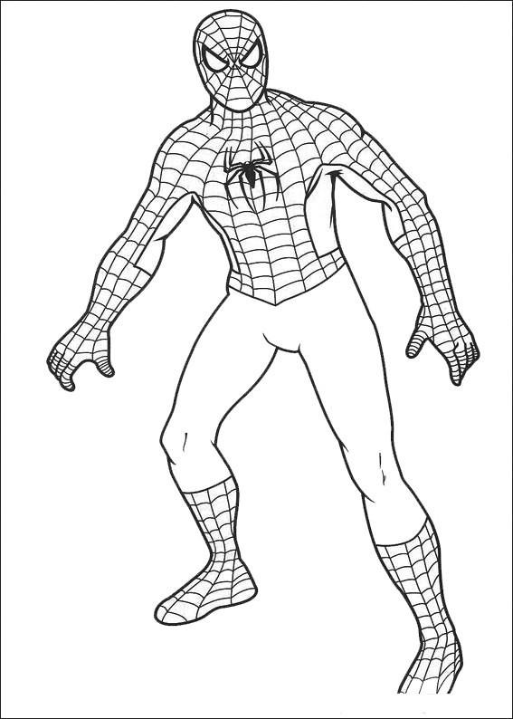 Coloriage Portrait Spiderman Facile dessin gratuit à imprimer