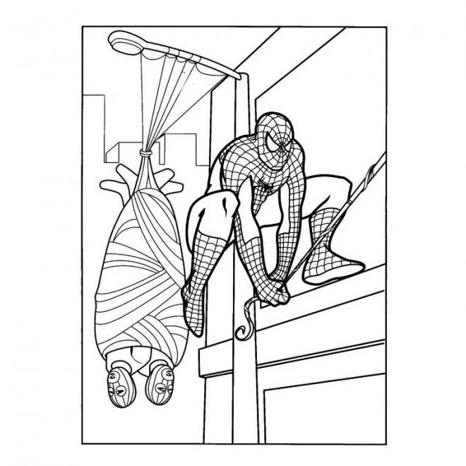 Coloriage spiderman capture le criminel dessin gratuit imprimer - Jeu spiderman gratuit facile ...