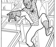 Coloriage Spiderman en Ligne