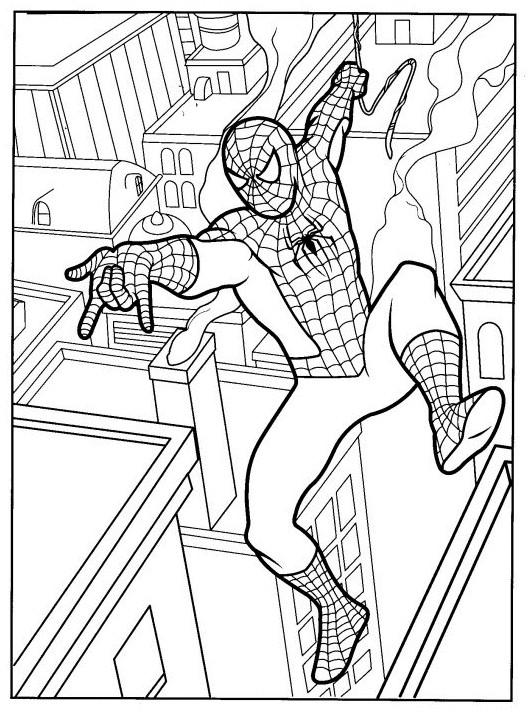 Coloriage Spiderman Facile Gratuit A Imprimer