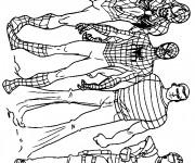 Coloriage Spiderman et Les héros