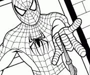 Coloriage spiderman facile 1 gratuit imprimer en ligne - Coloriage en ligne spiderman ...