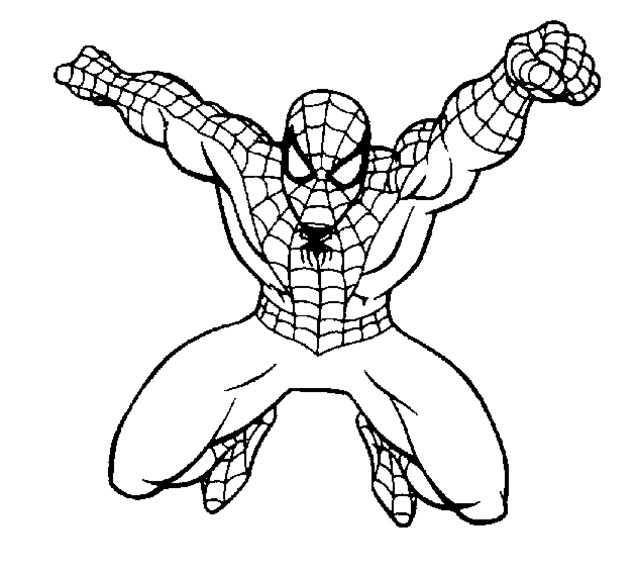 Coloriage spiderman facile 4 dessin gratuit imprimer - Dessin spiderman facile ...
