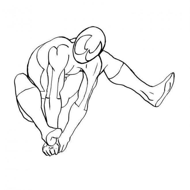 Coloriage Spiderman Facile A Decorer