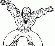 Coloriage et dessins gratuit Spiderman homecoming en action à imprimer
