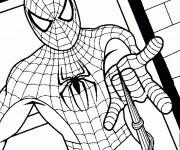 Coloriage Spiderman l'homme araignée