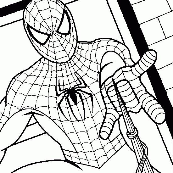 Coloriage et dessins gratuits Spiderman l'homme araignée à imprimer