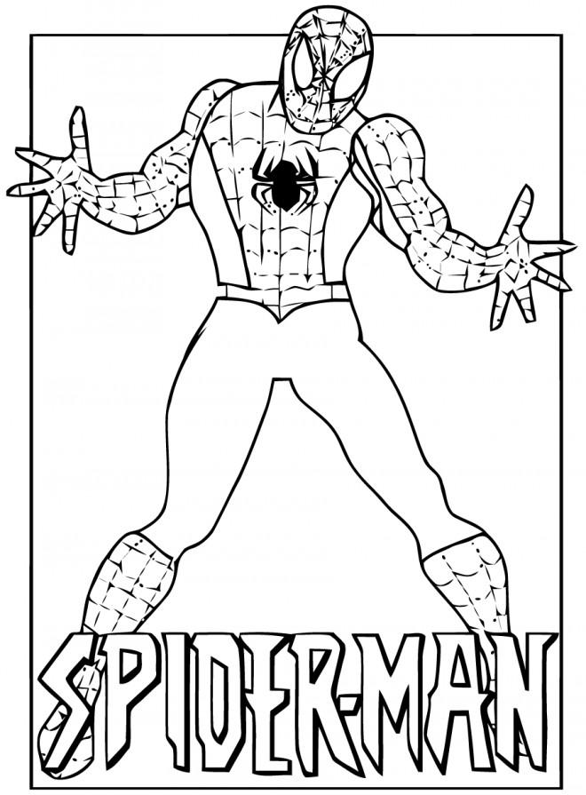 Coloriage spiderman le h ro fort dessin gratuit imprimer - Jeu spiderman gratuit facile ...