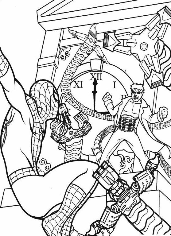 Coloriage spiderman le protecteur de la ville dessin gratuit imprimer - Coloriage spiderman portrait ...