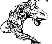 Coloriage Spiderman le super héro