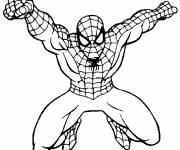 Coloriage Spiderman maternelle en action