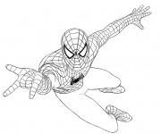 Coloriage Spiderman simple couleur