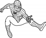 Coloriage Spiderman va lancer ses filets