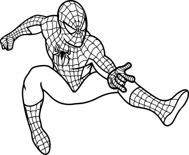 Coloriage Spiderman Va Lancer Ses Filets Dessin Gratuit A Imprimer