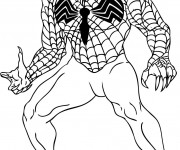 Coloriage Venom Facile