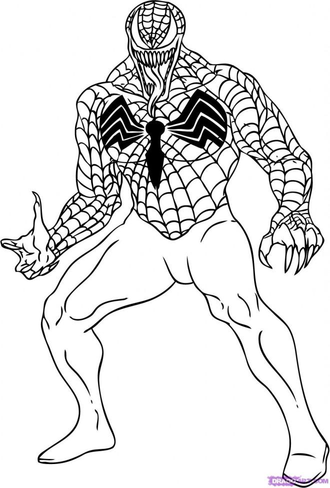 Coloriage Venom Facile Dessin Gratuit A Imprimer