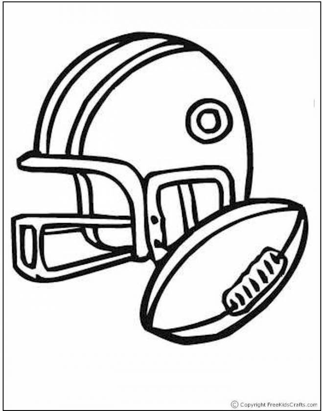 Coloriage Football Americain.Coloriage Ballon Et Casque De Football Americain