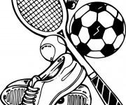 Coloriage et dessins gratuit Équipements sportifs à imprimer