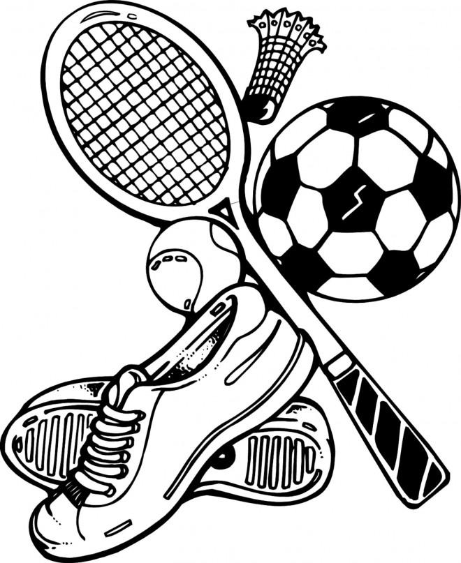 Coloriage et dessins gratuits Équipements sportifs à imprimer