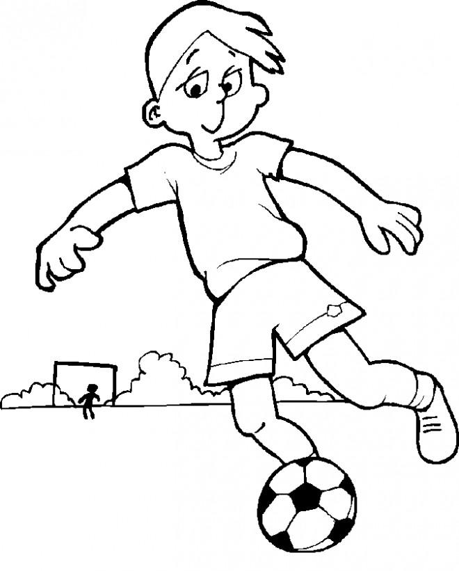 Dessin De Footballeur coloriage jeune footballeur dessin gratuit à imprimer