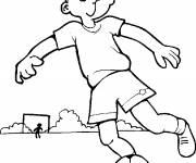 Coloriage Jeune footballeur drôle