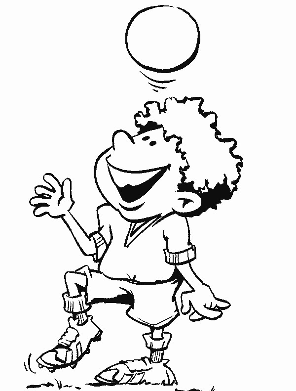 Coloriage et dessins gratuits Jeune garçon dribble le ballon à imprimer