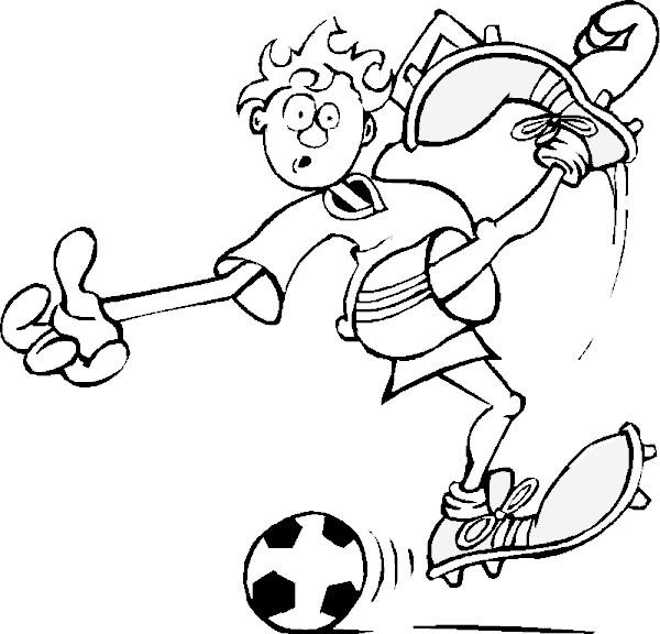 Coloriage et dessins gratuits Joueur de foot qui fait rire à imprimer