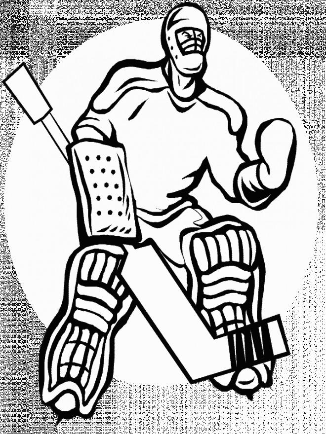 Coloriage et dessins gratuits Joueur de Hockey Adulte à imprimer