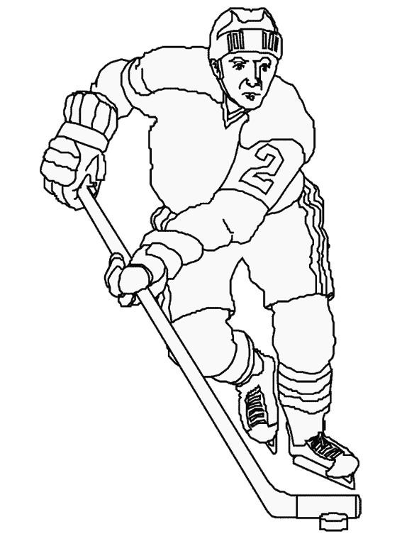 Coloriage et dessins gratuits Joueur de Hockey sur Glace à imprimer