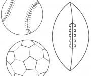 Coloriage et dessins gratuit Les Ballons stylisé à imprimer