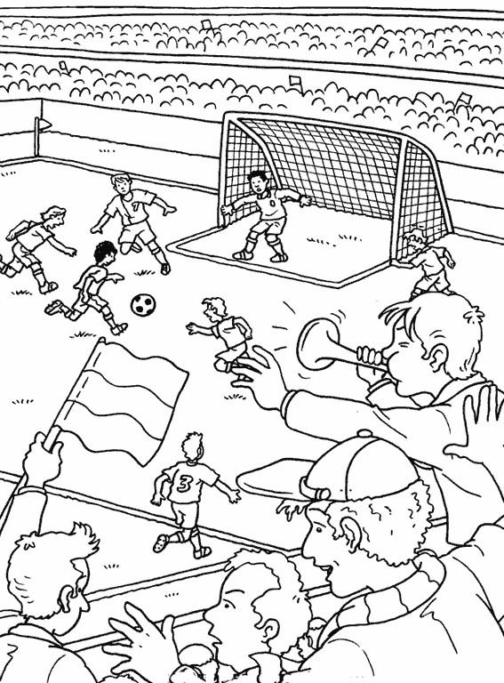 Coloriage et dessins gratuits Les Téléspectateurs supportant leur équipe à imprimer