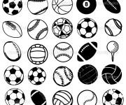 Coloriage Les types de Ballons