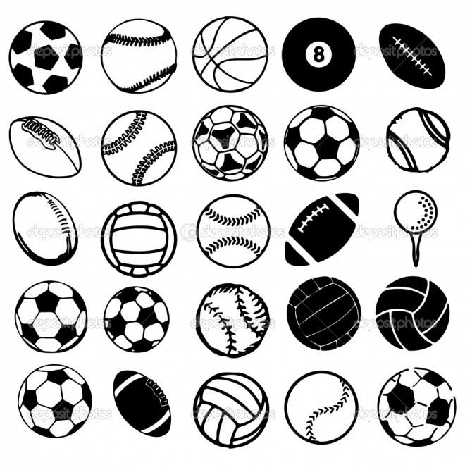 Coloriage Les types de Ballons dessin gratuit imprimer