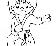 Coloriage Sport de Karate