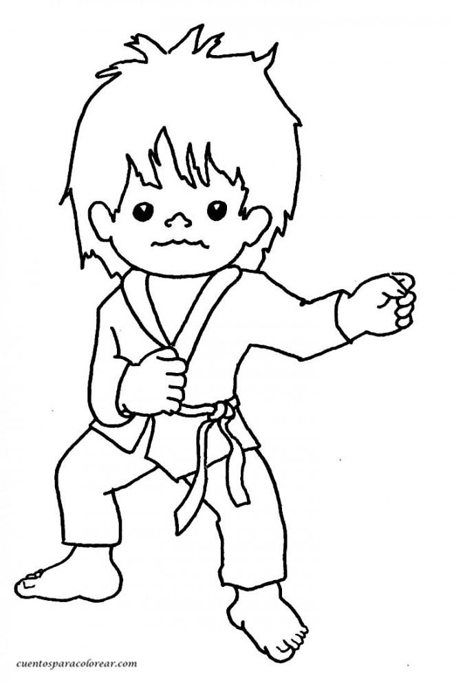 Coloriage et dessins gratuits Sport de Karate à imprimer