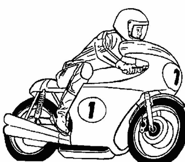 Coloriage Sport de Moto dessin gratuit à imprimer